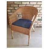 Natural Wicker Arm Chair