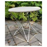 Retro Vintage Metal Steel Rod Side Table Stool