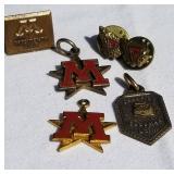 Vintage University of Minnesota Pendants