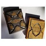 Antique Ornate Leather Bound Bibles