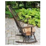 Antique Rush Seat Windsor Rocking Chair