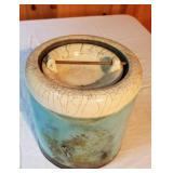 Lidded Raku Ceramic Vessel