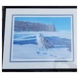 Bruce Miller Signed Snowy Owl Framed Print, Signed and Numbered