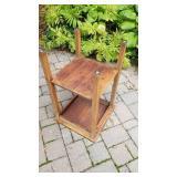 Antique Tiger Oak Mission Accent Table