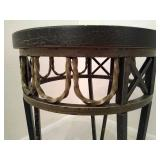 Round Crackle Finish Accent/Side Table