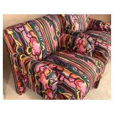 Pair of Contemporary Style Print Arm Chairs