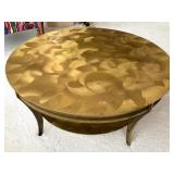 Simply Stunning Brass Round Coffee Table