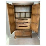 Fancher Mid Century Armoire Cabinet