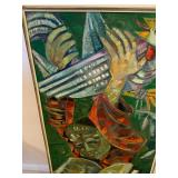 Framed Original Oil on Board Painting