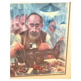 Signed/Framed Lithograph by George Russin