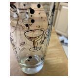 Set of Eight Vintage Cocktail Glasses