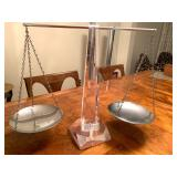 Scales of Justice with Lucite Base!