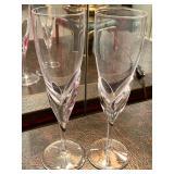 Daum (France) Champagne Flutes - Set of 12