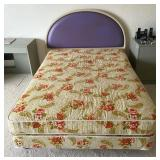 Full Size Bed Frame/Decorative Curved Headboard