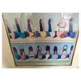 "Framed Print: Thiebaud Art ""Shoe Rows"" (1981)"