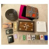 Vintage Playing Cards and Poker Chip Set