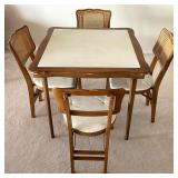 Vintage Card Table and Chairs Set by Stakmore Co
