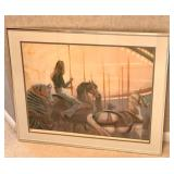 Signed and Framed Lithograph by Hal Singer