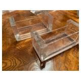 Three Lucite Photo Frames