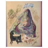 Signed Framed Print by Reuven Rubin