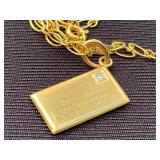 14k Tiffany & Co Envelope Pendant and Chain