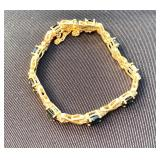 14k and Sapphire Tennis Bracelet