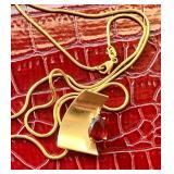 Robert C Trisko 14k Pendant and Chain