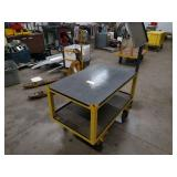 Steel Cart, 47x28 1/2 with Fork Poc...
