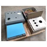 (3) Electrical Enclosures & Tub of ...