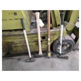 (3) Axes & Sledge Hammer...