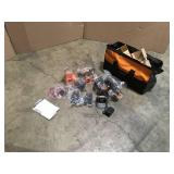 Ridgid 18V Lithium-Ion Cordless 3-Tool Combo Kit with (2) 2.0 Ah Lithium-Ion Batteries, Charger, and Bag open box not used see pictures