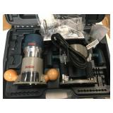 Bosch 12 Amp 2-1/4 in. Corded Peak Variable Speed Plunge and Fixed Base Router Kit with Hard Case not used