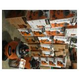 Pallet with assorted Ridgid Shop Vacs various models and conditions see pictures