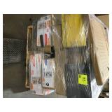 Pallet with assorted HDX Shelves Customer returns various sizes and conditions