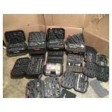Pallet with assorted Husky Mechanic tool sets various sets and conditions open boxes review pictures