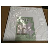 Case of Evergreen 1.6 ft. x 1.6 ft. Glue Up Foam Ceiling Tile in Plain White (21.6 sq. ft./case) not used 168 units