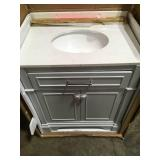 Home Decorators Melpark 30 in. W x 22 in. D Bath Vanity in White with Cultured Marble Vanity Top in White with White Sink not used