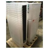 Pallet with plastic storage boxes see pictures