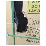 Husky Heavy Duty Welded 92 in. W x 81 in. H x 24 in. D Steel Garage Cabinet Set in Black (4-Piece) see pictures