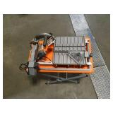 Ridgid 9 Amp Corded 7 in. Wet Tile Saw with Stand open box