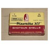 "Box of Hiawatha ""ACE"" 16 Gauge Shotgun Shotshells"