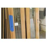 "Lot of (2) Swing Door with Glass Panel 21-3/4""Wx94-1/2""H"