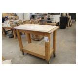 Rolling Wood Workstation