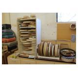 Lot of Laminate Trim with Storage Racks