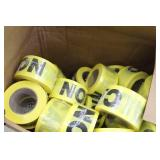 Lot of (1 Case) CAUTION Tape Rolls (new)