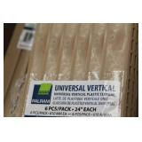 """Lot of (14 Cases) Palram Universal Vertical Plastic Closure Strips 24"""" 6-Count"""