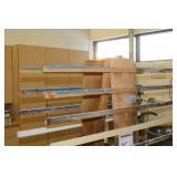 Rolling Wood Storage Rack Cart 2-Side 13-tier