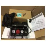 1 Gal. Portable Electric-Powered Silent Air Compressor by Husky Open Box Customer Returns See pictures.