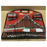 SAE/mm Combination Wrench Set (50-Piece) by Husky Open Box Customer Returns See pictures.