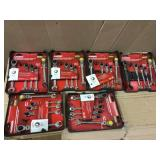 SAE Flex Ratcheting Combination Wrench Set (5-Piece) by Husky Open Box Customer Returns See pictures.